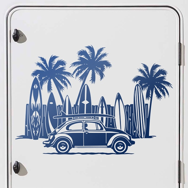 Car and Motorbike Stickers: Volkswagen, Beach and Surf