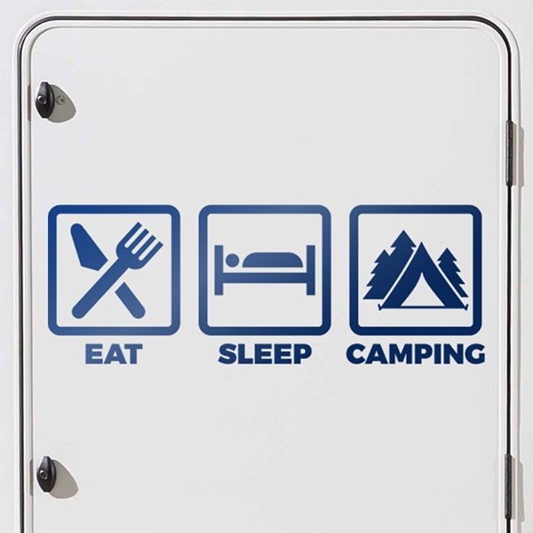 Car and Motorbike Stickers: Camping icons