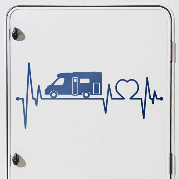 Car and Motorbike Stickers: Motorhome Electrocardiogram