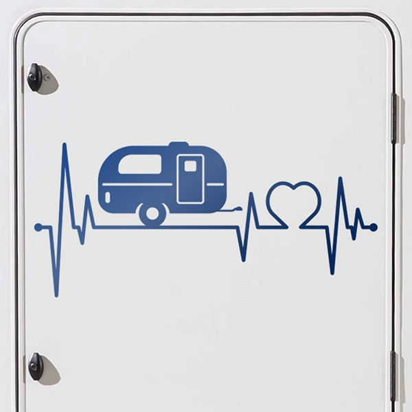 Car and Motorbike Stickers: Caravan Electrocardiogram
