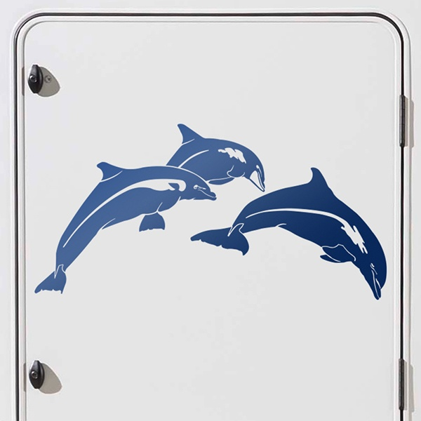 Car and Motorbike Stickers: Dolphins jumping 0