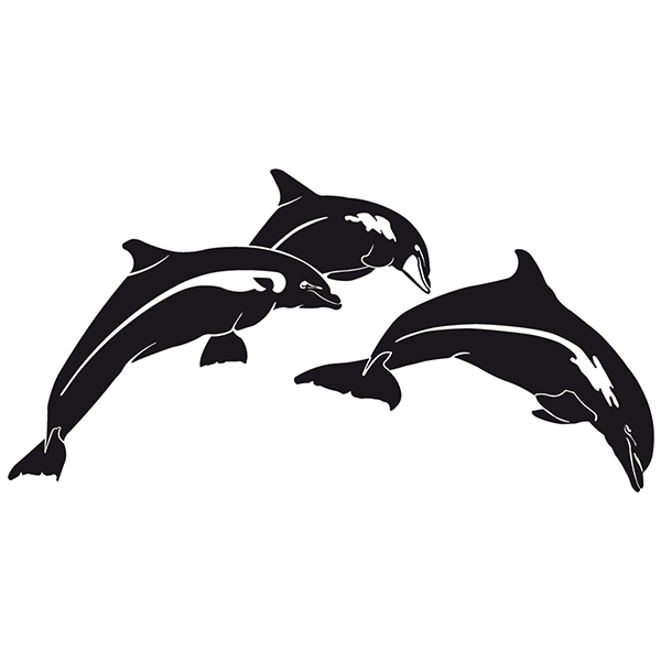 Car & Motorbike Stickers: Dolphins jumping
