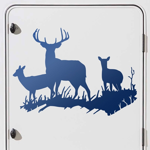 Car & Motorbike Stickers: Herd of Deer