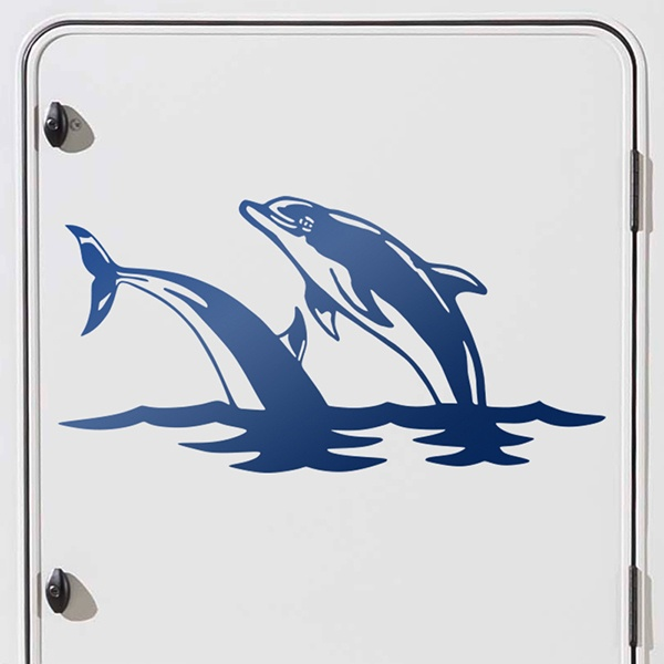 Car & Motorbike Stickers: Dolphins in the sea