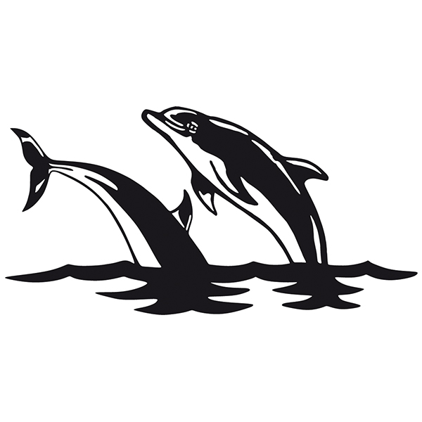 Car and Motorbike Stickers: Dolphins in the sea