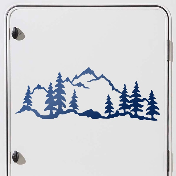 Car and Motorbike Stickers: Mountain forest