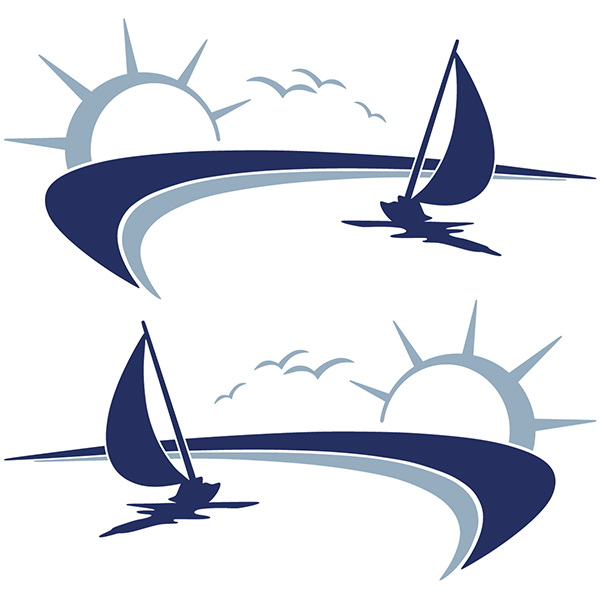 Car and Motorbike Stickers: Sailing in the sea