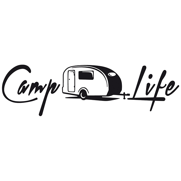 Car & Motorbike Stickers: Camp Life