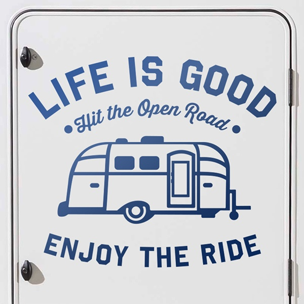 Car & Motorbike Stickers: Life is good 0
