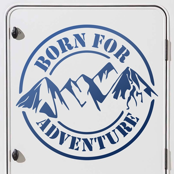 Car and Motorbike Stickers: Born for adventure