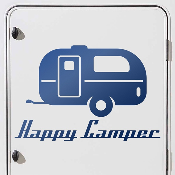 Car and Motorbike Stickers: Happy camper