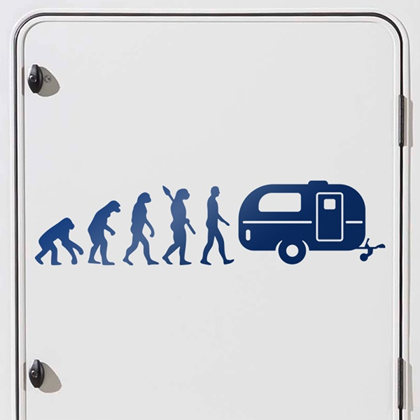 Car and Motorbike Stickers: Evolution Caravan