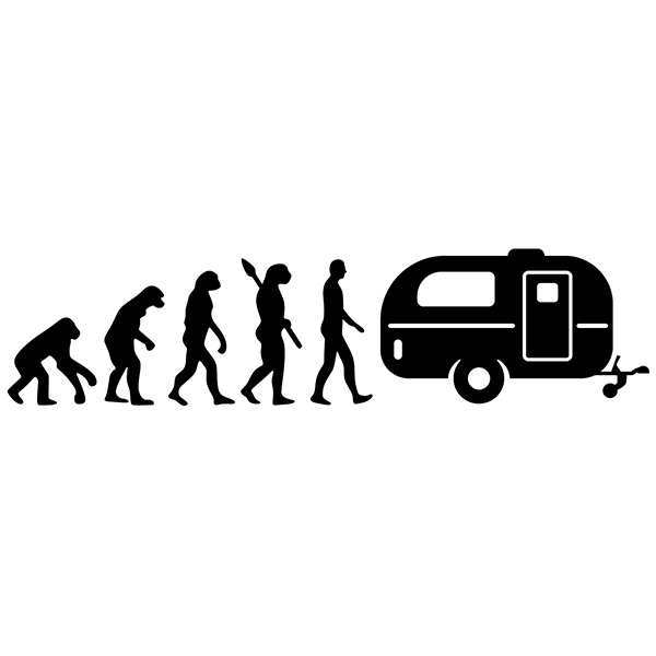 Car & Motorbike Stickers: Evolution Caravan
