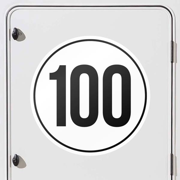 Car & Motorbike Stickers: Speed 100km/h