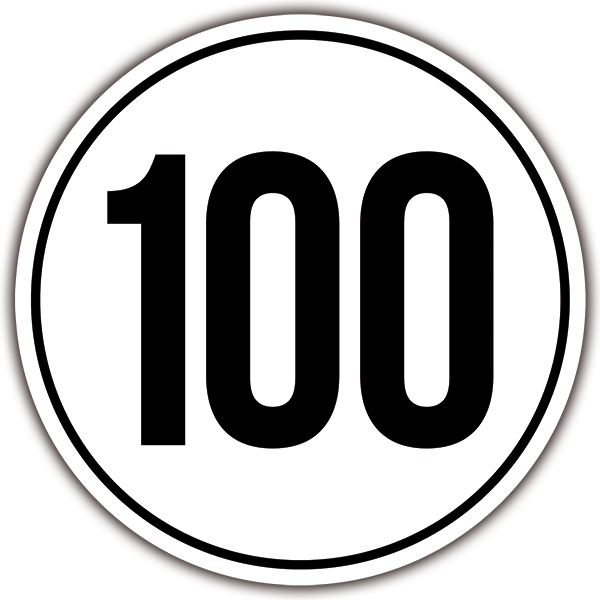 Car and Motorbike Stickers: Speed 100km/h