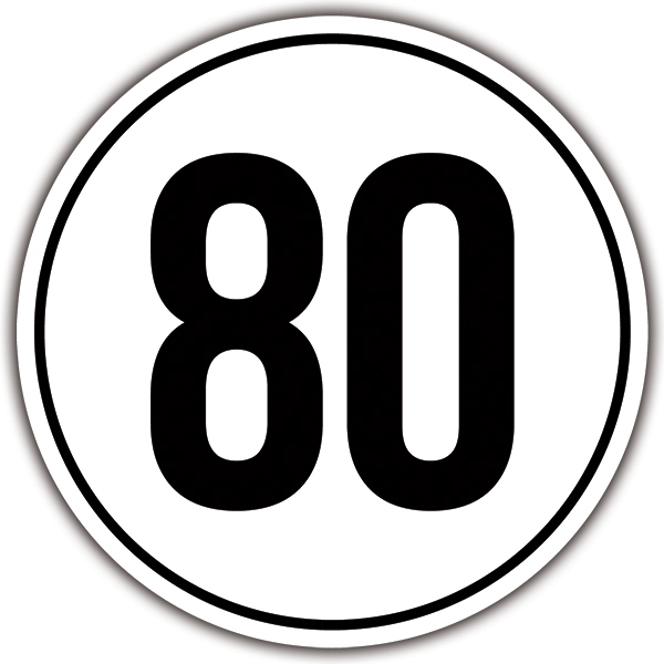 Car & Motorbike Stickers: Speed 80km/h