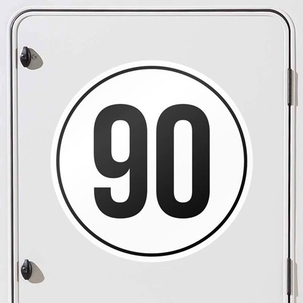 Car and Motorbike Stickers: Speed 90km/h