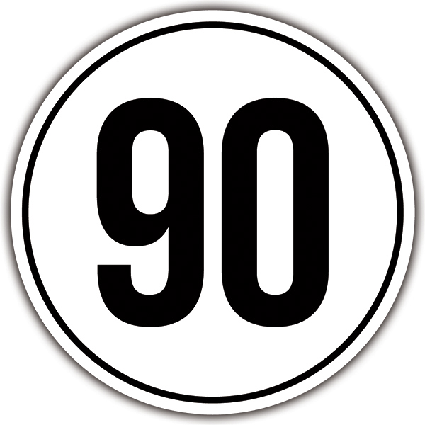 Car & Motorbike Stickers: Speed 90km/h