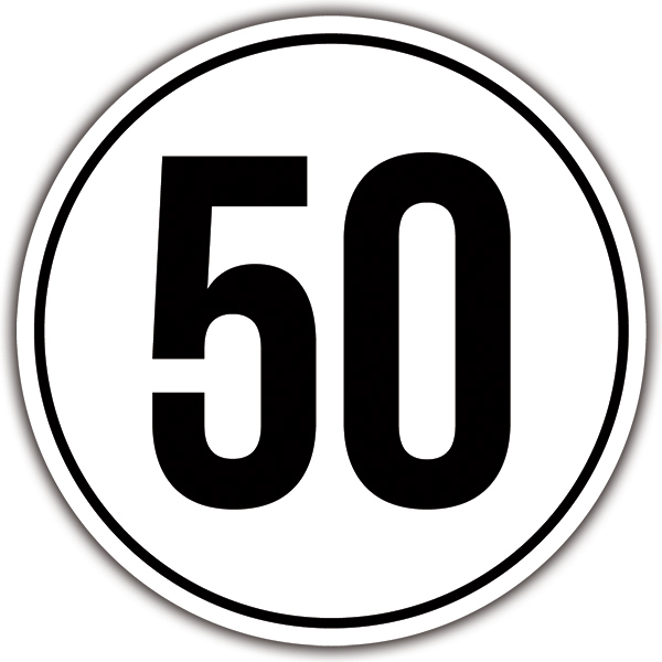 Car & Motorbike Stickers: Speed 50km/h