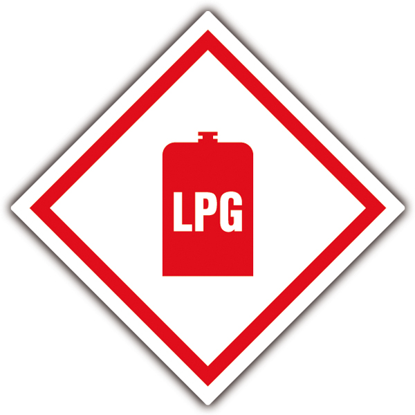 Car & Motorbike Stickers: Warning sign LPG