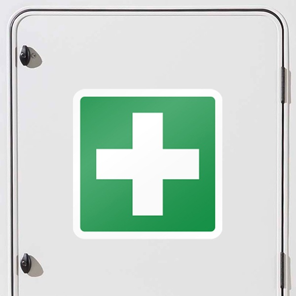 Car and Motorbike Stickers: First aid kit signal