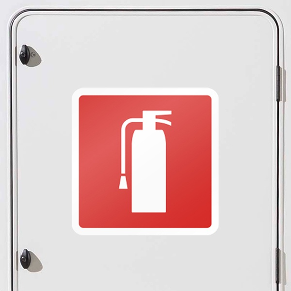 Car and Motorbike Stickers: Extinguisher signs