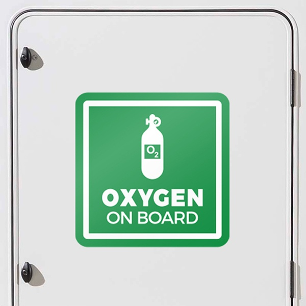 Car & Motorbike Stickers: Oxygen signs