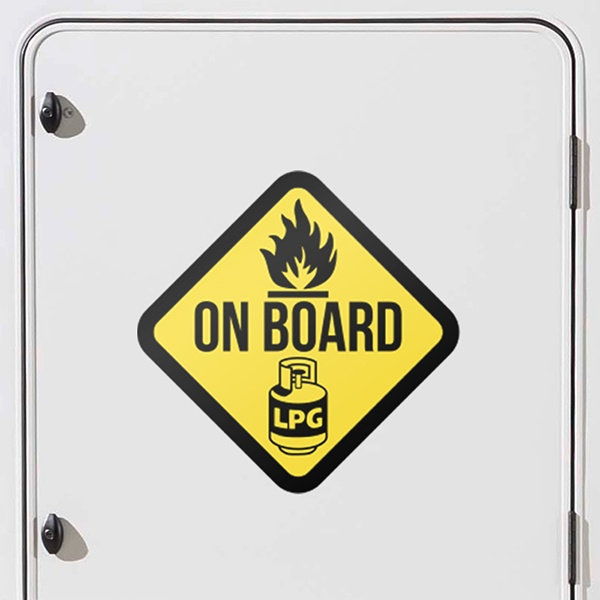 Car & Motorbike Stickers: LPG on board signs