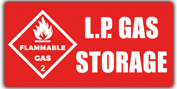 Car & Motorbike Stickers: LP GAS Storage