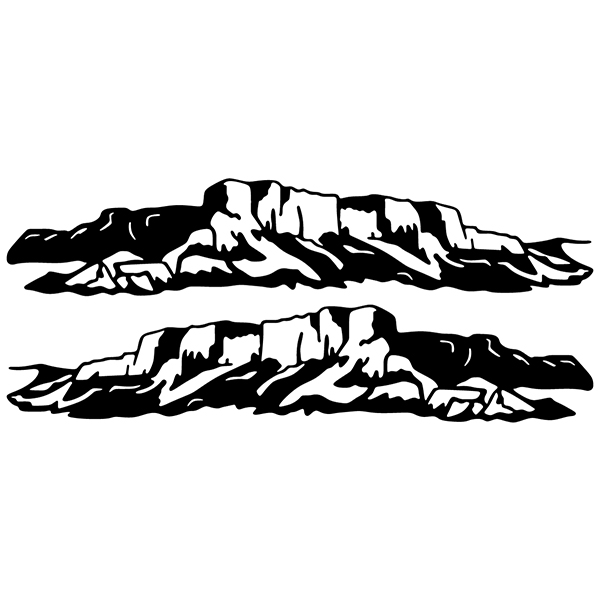 Car and Motorbike Stickers: Mountainous landscape