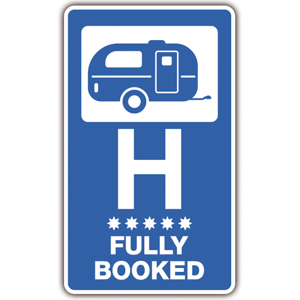 Car and Motorbike Stickers: Hotel Fully Booked