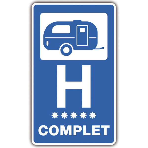 Car & Motorbike Stickers: Hotel Complet