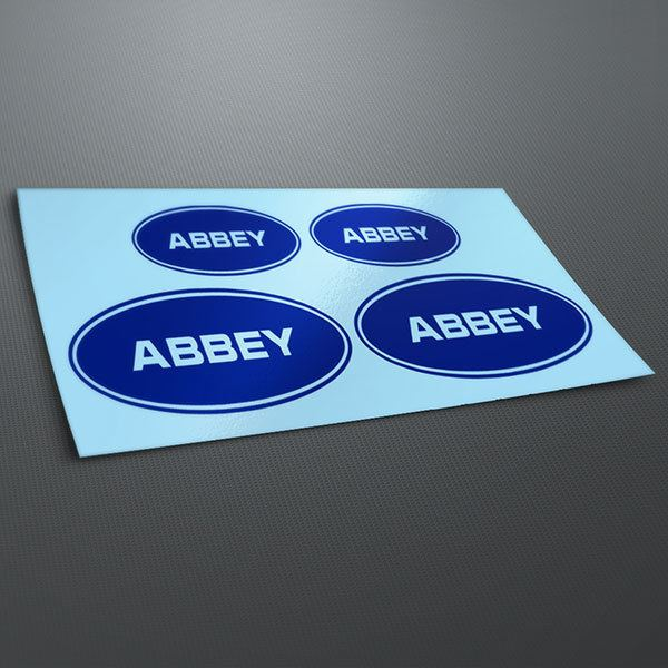 Car & Motorbike Stickers: Kit Abbey