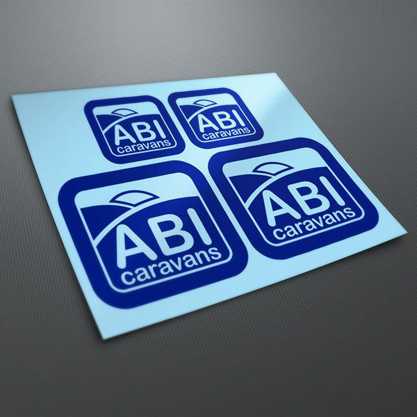 Car & Motorbike Stickers: Kit Abi Caravans
