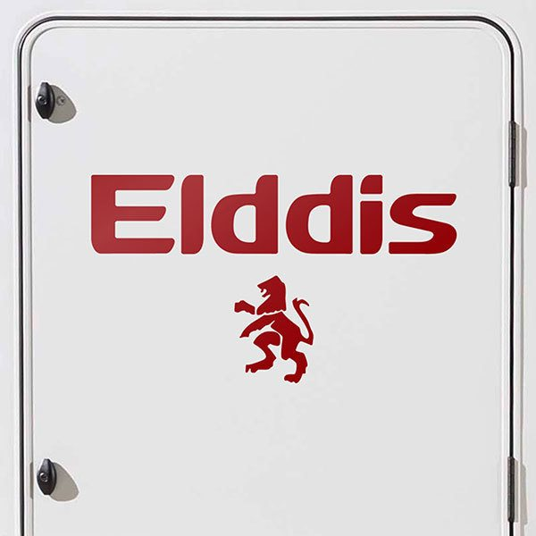 Car & Motorbike Stickers: Elddis with lion