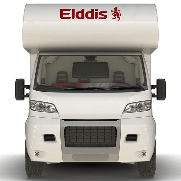 Car & Motorbike Stickers: Elddis Logo