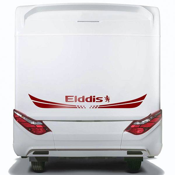 Car & Motorbike Stickers: Elddis Winged logo