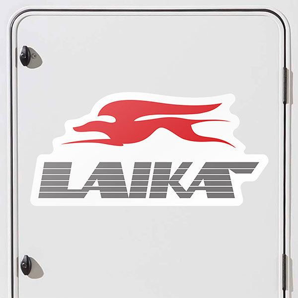 Car & Motorbike Stickers: Laika Logo