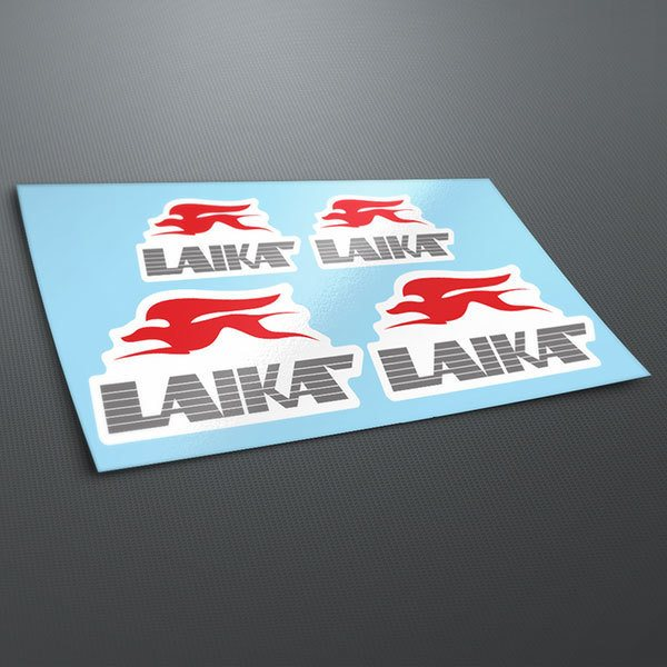 Car & Motorbike Stickers: Kit Laika Logo