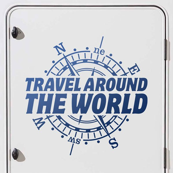 Car & Motorbike Stickers: Travel around the world, in english