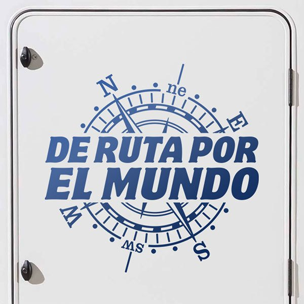 Car & Motorbike Stickers: Travel around the world, in spanish