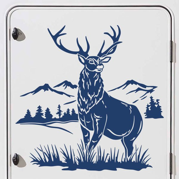 Car & Motorbike Stickers: Deer in the forest