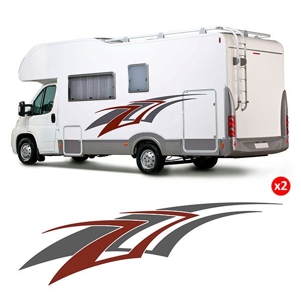 Car & Motorbike Stickers: Kit 2 Tribal Caravan
