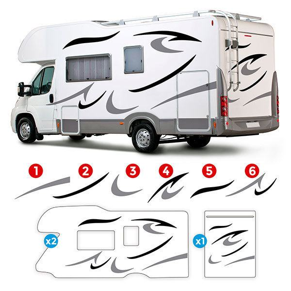 Car & Motorbike Stickers: Jupiter Caravan Kit