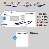 Car & Motorbike Stickers: Saturn Caravan Kit 2