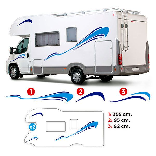 Car & Motorbike Stickers: Uranus Caravan Kit