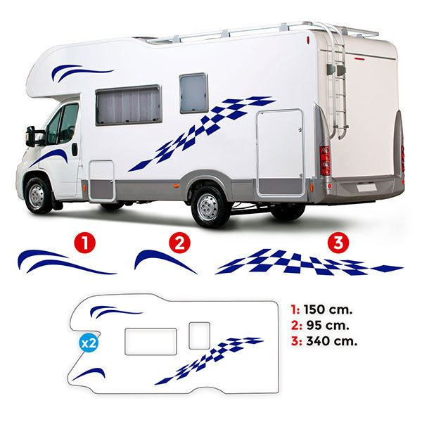 Car & Motorbike Stickers: Caravan Kit Neptune
