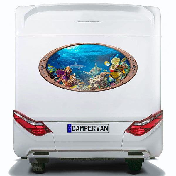 Car & Motorbike Stickers: Elliptical frame Seabed