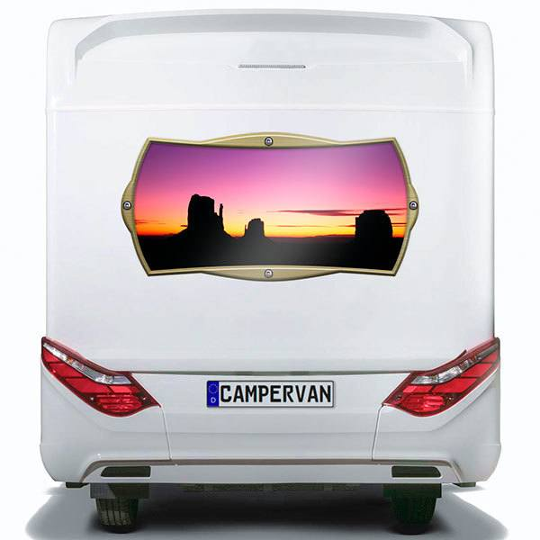 Car & Motorbike Stickers: Rectangular frame Grand Canyon at sunset