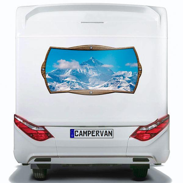 Car & Motorbike Stickers: Rectangular frame mountain